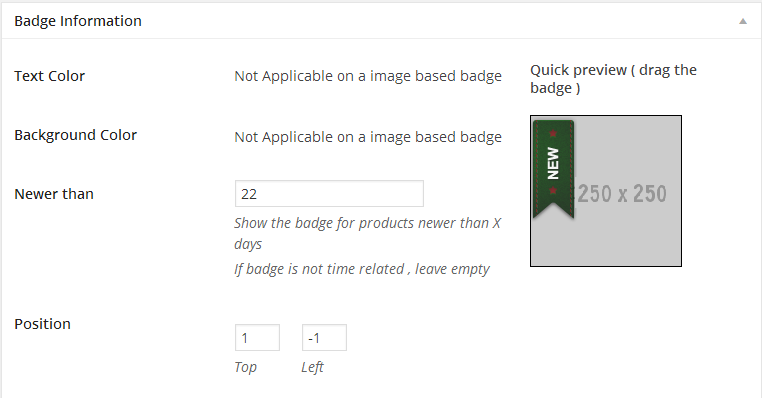 badge information