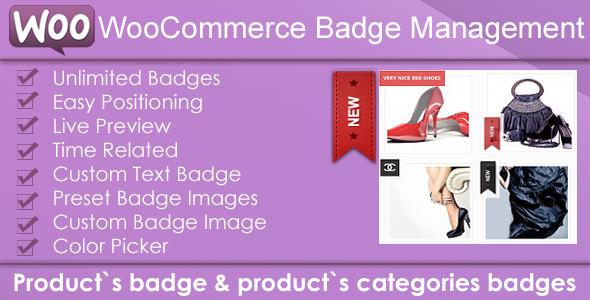 Woocommerce Badge Management