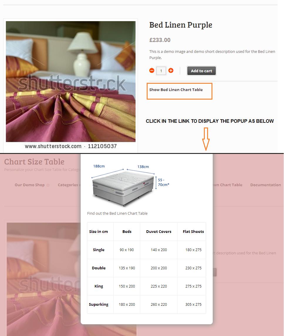 Woocommerce Product Chart Sizes Table - 9