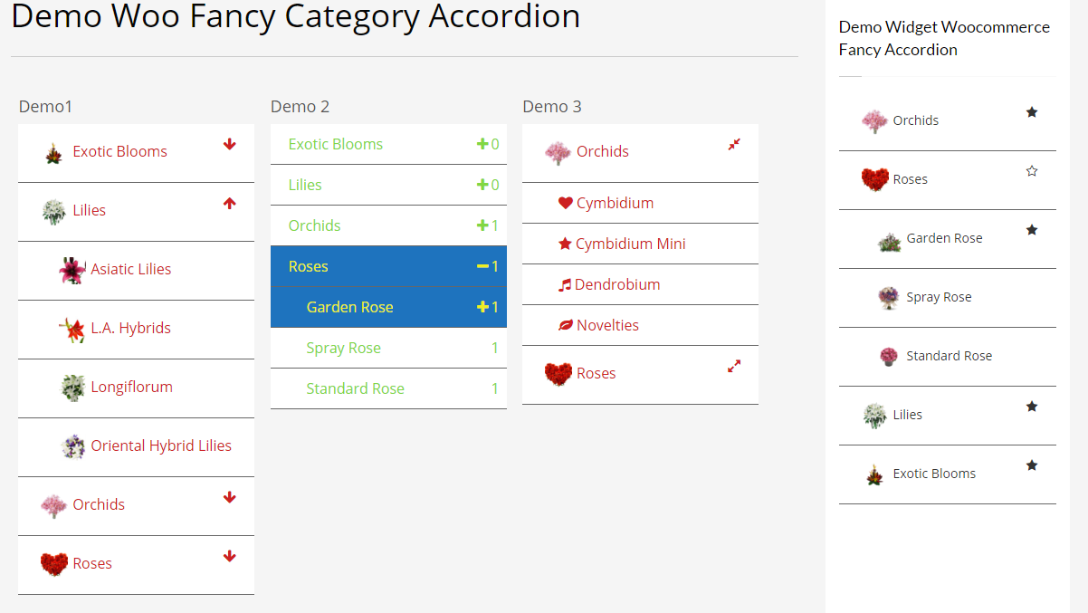 Woocommerce Fancy Category Accordion 4