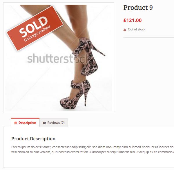 Woocommerce Sold Out Badge 10