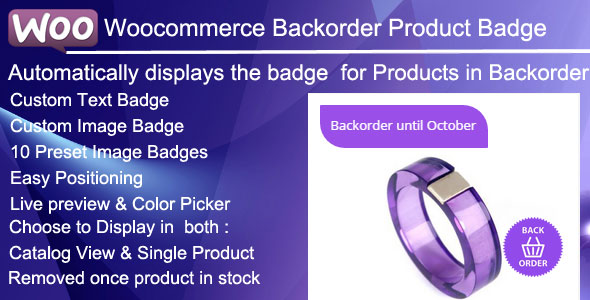 Woocommerce Backorder  Badge Documentation
